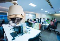 Kabeltelevisie of toezicht het werken Stock Foto