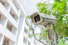 Kabeltelevisie-veiligheidscamera openlucht Stock Fotografie