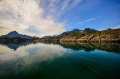KabelvÃ¥g στα νησιά Lofoten στη Νορβηγία Στοκ Εικόνες
