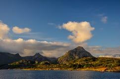 KabelvÃ¥g en las islas de Lofoten Imágenes de archivo libres de regalías