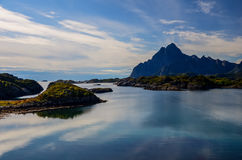 KabelvÃ¥g på Lofoten öar Arkivfoto