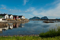 Kabelvag, Lofoten Royalty Free Stock Images