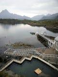 Kabelvog Ein populäres Touristenort im Norden von Norwegen Lizenzfreie Stockfotos