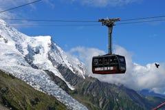 Kabelwagen aan Aiguille du Midi Royalty-vrije Stock Afbeeldingen