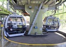 Kabelwagen aan Monte het Eiland Portugal in van Funchal, Madera royalty-vrije stock afbeeldingen