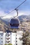 Kabelwagen aan Monte het Eiland Portugal in van Funchal, Madera stock fotografie