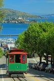 Kabelwagen & Eiland Alcatraz in San Francisco Royalty-vrije Stock Afbeelding