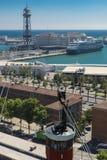 Kabelwagen in Barcelona Royalty-vrije Stock Afbeeldingen