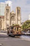 Kabelwagen bij Huntington-Park en de Straat van Californië royalty-vrije stock foto