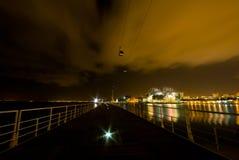 Kabelwagen bij nacht Royalty-vrije Stock Foto