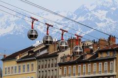 Kabelwagen in Grenoble - Basisstation royalty-vrije stock afbeelding