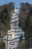 Kabelwagen op de berg Stock Afbeeldingen