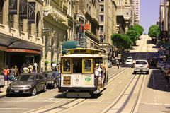 Kabelwagen in San Francisco Royalty-vrije Stock Foto's