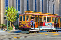 Kabelwagen in San Francisco Royalty-vrije Stock Foto's