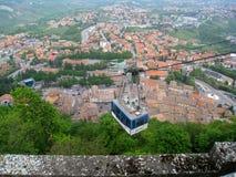 Kabelwagen in San Marino Stock Afbeeldingen