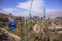 Kabelwagen in Santiago de Chile Stock Afbeelding
