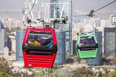 Kabelwagen in Santiago de Chile Stock Afbeeldingen