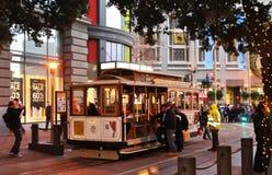 Kabelwagen in SF de stad in Royalty-vrije Stock Afbeeldingen