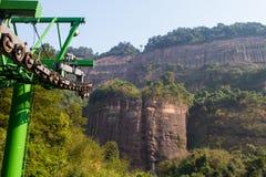 Kabelwagen tot berg Stock Afbeelding