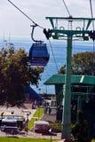 Kabelwagen van Funchal tot Monte in Madera Royalty-vrije Stock Afbeeldingen