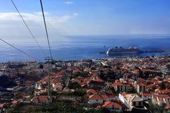 Kabelwagen van Funchal tot Monte in Madera Royalty-vrije Stock Afbeelding