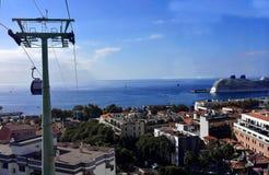 Kabelwagen van Funchal tot Monte in Madera Royalty-vrije Stock Foto's