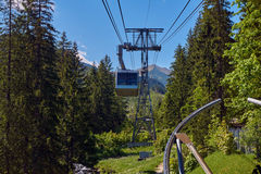 Kabelwagen voor Kasprowy Wierch in Tatra-Bergen Royalty-vrije Stock Afbeelding
