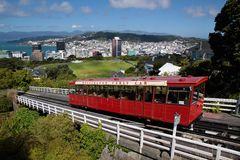 Kabelwagen in Wellington Stock Foto's