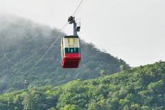 Kabelwagencabine bij de Dominicaanse Republiek van Puerto Plata Stock Fotografie