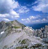 Kabelwagenpost bovenop een berg in Oostenrijk Tirol Royalty-vrije Stock Foto