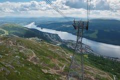 Kabelwagentoren Stock Foto's