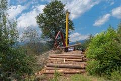 Kabelyarding in Oostenrijk Stock Fotografie