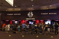 KAbiljettkontor i Las Vegas, NV på Augusti 06, 2013 royaltyfri fotografi