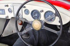 Kabin av den klassiska bil- MG modellen MGA Arkivfoton