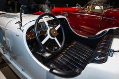 Kabin av en sportbil Mercedes-Benz 27/170/225 SSK PS Arkivbilder