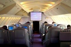Kabin för Boeing 747 affärsgrupp Royaltyfria Foton
