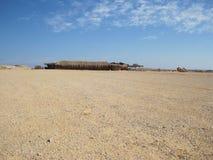 Kabin i den egyptiska öknen Royaltyfria Foton
