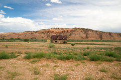 Kabin i lantliga Utah Fotografering för Bildbyråer