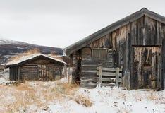 Kabin i Norge Royaltyfri Fotografi
