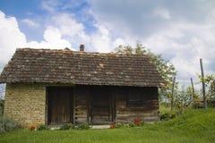 Kabin i vingården Arkivbilder
