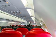 Kabin inom flygplan Fotografering för Bildbyråer