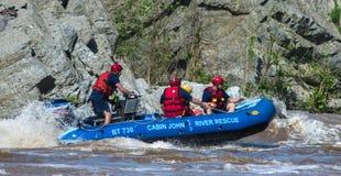 Kabin John River Rescue Squad på Potomacet River, Maryland Royaltyfria Bilder