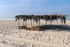 Kabin på stranden Arkivfoton
