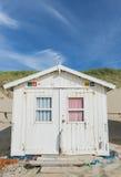 Kabin på strandkojan Royaltyfri Bild