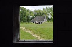 Kabin till och med fönstret Arkivbild