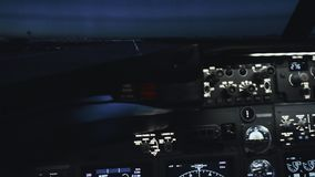 Kabina cywilny samolot przed start zbiory wideo