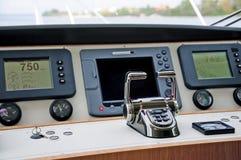 Kabina, motorowy jacht zdjęcia royalty free