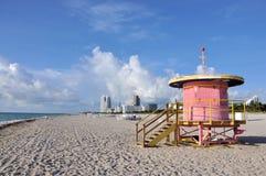 Kabina przy Miami plażą Obraz Royalty Free