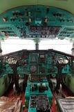 Kabina Tu-144 fotografia stock
