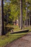 Kabina W drewnach Zdjęcia Stock